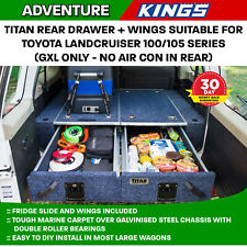 Outback 4x4 Camping Titan Rear Drawers System With Wings & Fridge Slide 1070mm