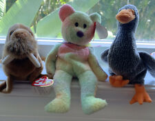 Ty Beanie Babies Honks The Goose, Groovy, And Paul The Walrus 1999