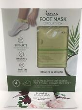 💯Karuna Foot Mask Exfoliating+ Hydrate Soften For Rough Dehydrated Feet x4Pair