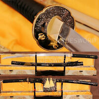 Japanese 1060 Carbon Steel KATANA Full Tang Samurai Sword Sharp Heat Treat Blade