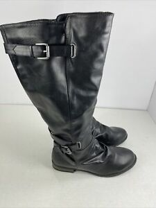 Diba Zip-Up Knee-High Boots Women's Size 8