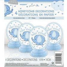 UMBRELLAPHANTS BLUE - Baby Shower PARTY RANGE (New Boy Decorations & Tableware)