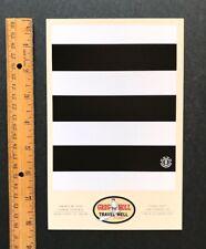 "Greg Noll Classic Convict Stripes Invitation, ""Travel Well"" Skate Element Art"