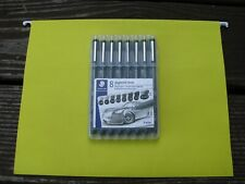 Brand New -  Staedtler 8 Pigment Liner Sketch Pens With Assorted Width
