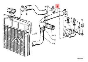Genuine Engine Thermostat Water Hose BMW 114 E12 E21 NK 1500 1502 11531266469