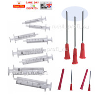 INK REFILL KIT SET 5 SYRINGES (2ml 5ml 10ml 20ml) + 5 BLUNT NEEDLES NO MEDICAL
