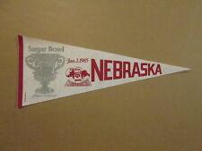 NCAA Nebraska Cornhuskers Vintage 1985 Sugar Bowl Pennant