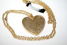 Indeed 2 in 1 Pendant Chain Long Shimmery Golden & GLITTERY Heart Necklace $28