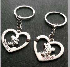 Mickey Mouse and Minnie Mouse Keyring set of 2 pcs  Love heart keyring set 680