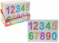 KIDS NUMBER PUZZLE Wooden Toy Jigsaw Child Learning  Birthday Christmas Gift
