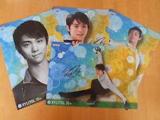 Yuzuru Hanyu Figure Skating A4 Clear File Plastic Folder 4 pcs