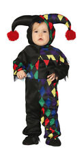 Boys Girls Toddler Clown Costume Jester Fancy Dress Harlequin Outfit Age 1-2 NEW