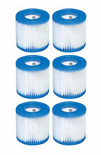 Intex Swimming Pool Easy Set Filter Cartridge Replacement Type H (6-Pack) 29007E