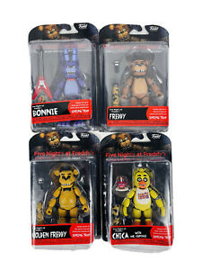 4 Lot FIve Nights At Freddys FNAF FUNKO Articulation Authentic Action Figures