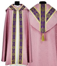 Rose Semi Gothic Cope with stole KY113-R25p Capa pluvial Rosa Piviale Chape Rose