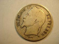 FRANCE  SILVER   1  FRANC   1868  A