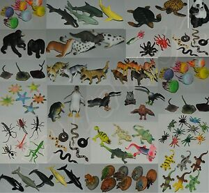 Plastic Farm Zoo Wild Jungle Animals Bugs Insects Sealife animals UK SELLER ONLY