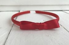 Red Snow White Style Satin Girls Hairband Headband Alice Band Red Bow