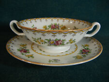 Yellow Trim Footed Cup and Saucer VINTAGE//EXCELLENT CONDITION Spode PEPLOW