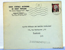 Letter Algeria Reason EA 1962 Algiers Station EA102