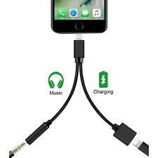 2 in1 Adapter For Apple iPhone X 8 7 Plus Splitter Audio Earphone AUX Charger US