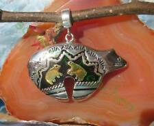 ciondolo orso Hals der indiana argento 925 placcato oro nero