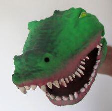 tolle schaurige Handpuppe Krokodil aus sehr weichem Gummi.. sehr gruselig NEU