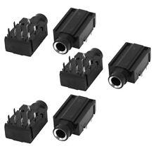 "6 Pcs 9 Pins 1/4"" 6.35mm Stereo Socket Headphones Jack PCB Panel Mount Adapter"