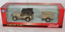Schuco Junior Line 1:43 Metallmodell Willys Jeep mit Verdeck und Hänger Neu