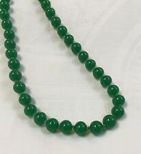 Vintage Green Glass Bead with 14K Gold Clasp NECKLACE