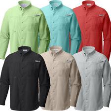 "New Mens Columbia PFG ""Tamiami II"" Omni-Shade Omni-Wick Vented Fishing Shirt"
