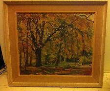 20th Century Original Oil painting by M.W Lyle My Favourite Chestnut tree