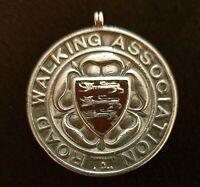 Sterling Silver & Enamel 1914  Walking Association Medal