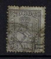 Norway SC# 13, used, Hinge Remnant, Pulled top perf - Lot 041617