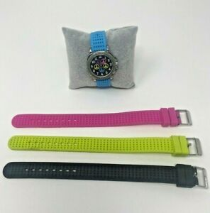 Accutime Kid's Watch with Different Color Interchangeable Straps