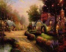 Thomas Kinkade COBBLESTONE LANE Canvas 24 x 30