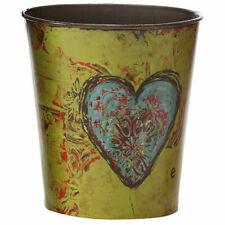 Creative Co-Op Round Tin Flower Pot - Love