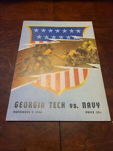 1946 Georgia Tech Vs Navy Football Program