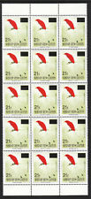 PNG  OVERPRINTS BIRDS 1ST PRINT 21t ON 45t 1993 BLOCK OF 15 MNH