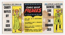 A&BC gum card Comic Book Foldees #29 Unfolded Export Version Evil Penguin