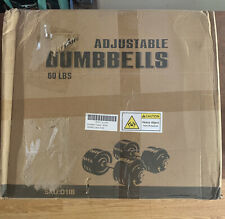 Yes4All Adjustable Dumbbell Weight Set 1 Pair (60lbs total) *SHIPS IMMEDIATELY*