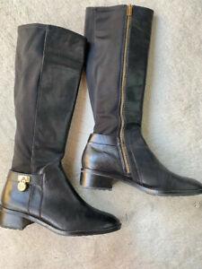 Michael Kors Women Black Thigh High Boots - Size 8M