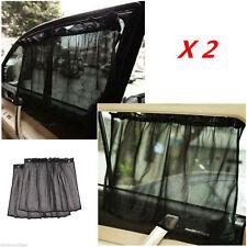 2pc Car Window Sun Shade Visor Sunshade Curtain UV Protection W/6pc Suction Cup