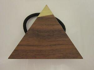 NWT Free People Metallic Butternut Brooklyn Painted Wood Hair Tie Triangle $35