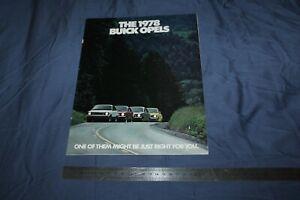 (MN2/C) Brochure Catalogue The 1978 BUICK OPELS (OPEL)