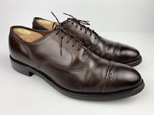 Allen Edmonds Fifth Avenue Cap Toe Oxford Brown Leather Dainite Sole Men Size 10