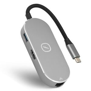Frisby 7-in-1 USB-C Hub, Aluminum Type C Adapter With HDMI, USB 3.0, SD Reader