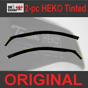 FORD FOCUS mk2 4/5-doors 2004-2010 2pc Wind Deflectors HEKO Tinted