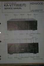 Service Manual für Kenwood KA-V7700