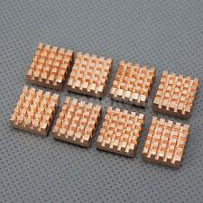8x de cobre puro enfriador Disipador Para IC SDRAM DDR RAM VGA Memoria chipset